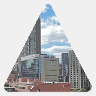 Downtown Pittsburgh Skyline Triangle Sticker