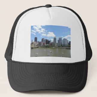 Downtown Pittsburgh Skyline Trucker Hat