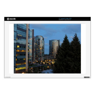 Downtown Portland at Dusk Laptop Decal