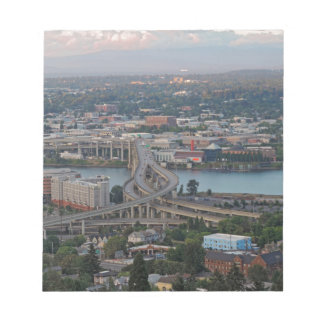 Downtown Portland at Sunset Note Pad