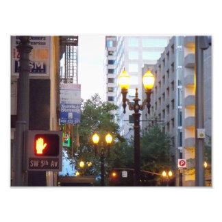 Downtown Portland City Lights Photo Print