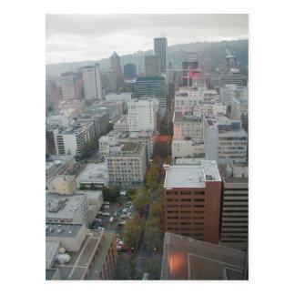 Downtown Portland Oregon Aerial View Postcard