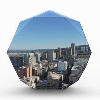 Downtown Portland Skyline Acrylic Award