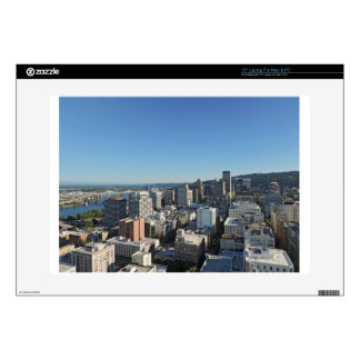 """Downtown Portland Skyline Skin For 15"""" Laptop"""