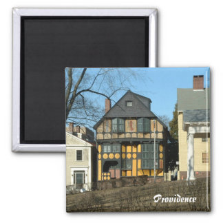 Downtown Providence 2 Inch Square Magnet
