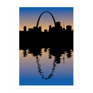 Downtown Saint Louis, Missouri Silhouette Post Card