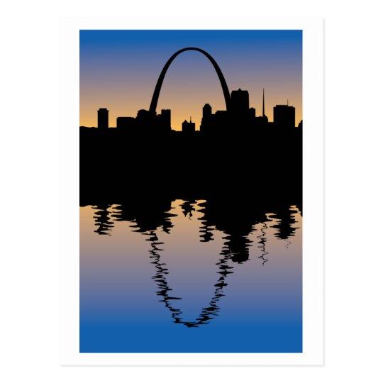 Downtown Saint Louis, Missouri Silhouette Postcard
