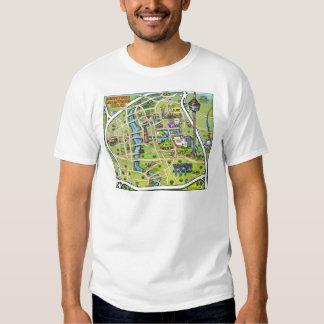 Downtown San Antonio Cartoon Map T-Shirt