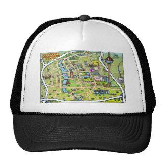 Downtown San Antonio Cartoon Map Trucker Hat