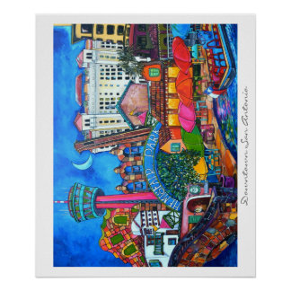 Downtown San Antonio Montage Two Print