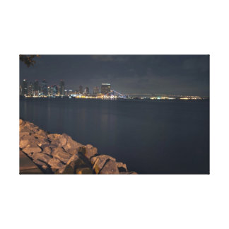 Downtown San Diego Night Scape Canvas Print