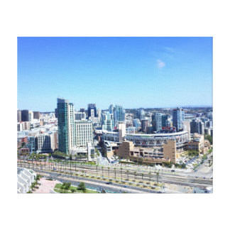 Downtown San Diego Petco Park and Gas Lamp Distric Canvas Print