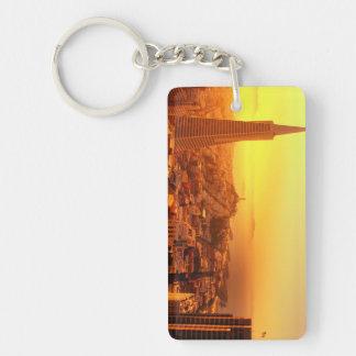 Downtown San Francisco, CA Double-Sided Rectangular Acrylic Keychain