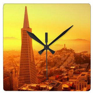 Downtown San Francisco, CA Square Wall Clock