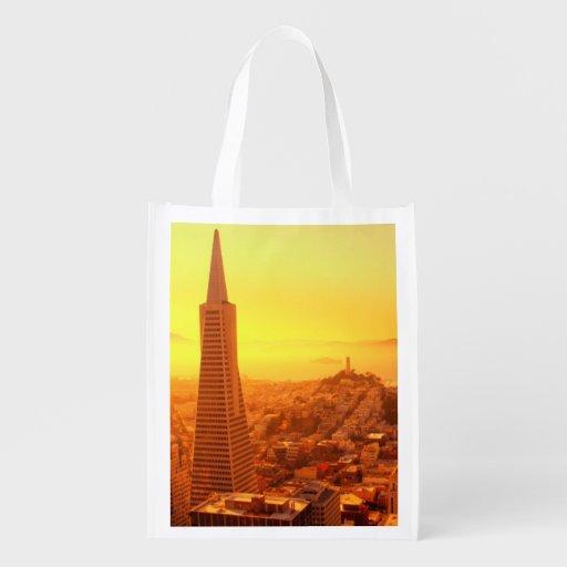 Downtown San Francisco, CA Reusable Grocery Bag