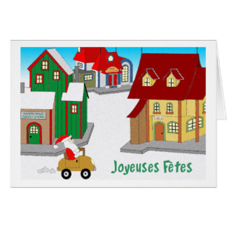 Downtown Santa - french Card