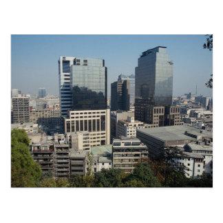 Downtown Santiago, Chile Postcard