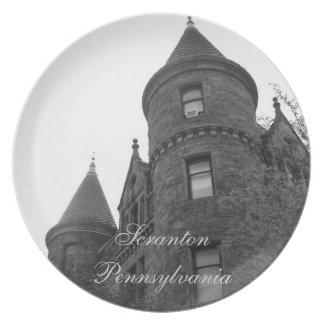 downtown scranton dinner plate
