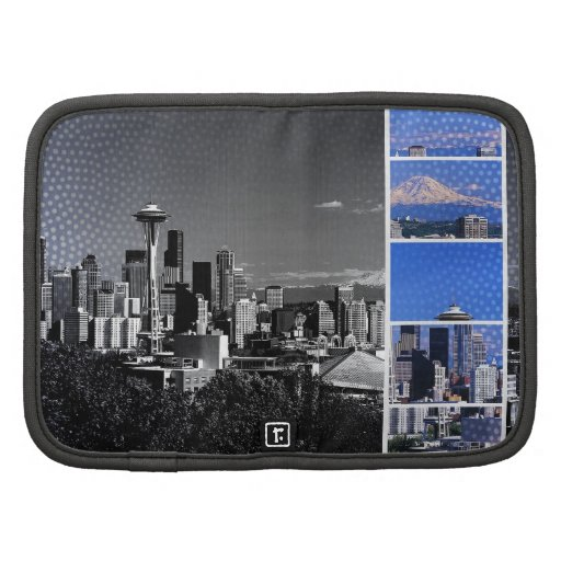 Downtown Seattle Blue Grey Collage Planner