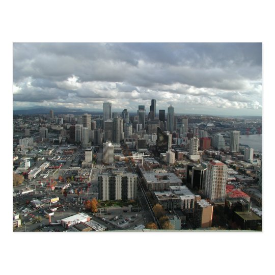 Downtown Seattle Cloudy Day Postcards