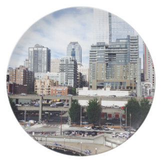 Downtown Seattle Dinner Plate