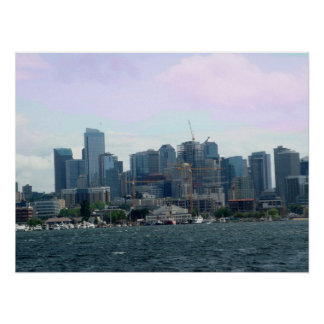 Downtown Seattle from the Ferry Print