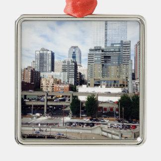 Downtown Seattle Metal Ornament