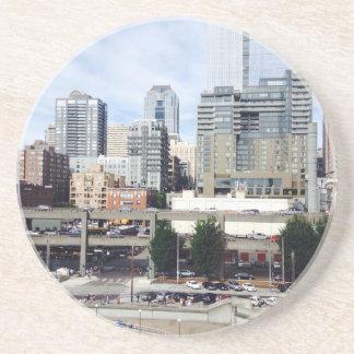 Downtown Seattle Sandstone Coaster