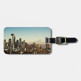 Downtown Seattle skyline and Space Needle Bag Tag