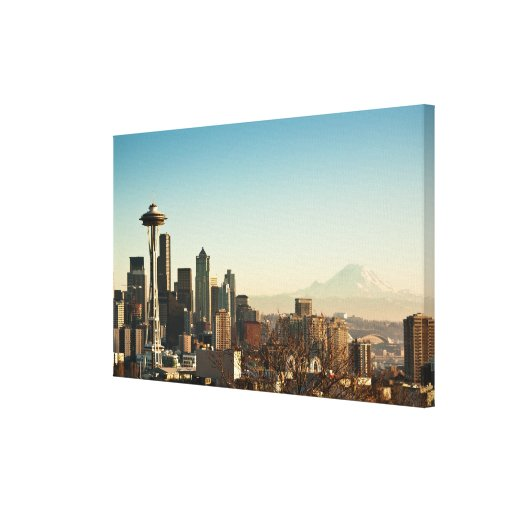 Downtown Seattle skyline and Space Needle Gallery Wrap Canvas