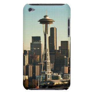 Downtown Seattle skyline and Space Needle iPod Case-Mate Case