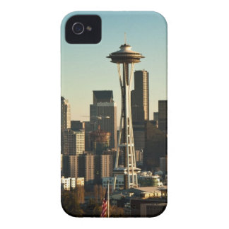 Downtown Seattle skyline and Space Needle iPhone 4 Cases