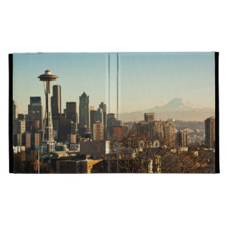Downtown Seattle skyline and Space Needle iPad Cases