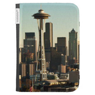 Downtown Seattle skyline and Space Needle Kindle Cover