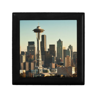 Downtown Seattle skyline and Space Needle Trinket Box