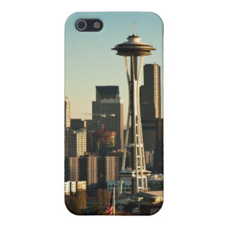 Downtown Seattle skyline and Space Needle Cases For iPhone 5
