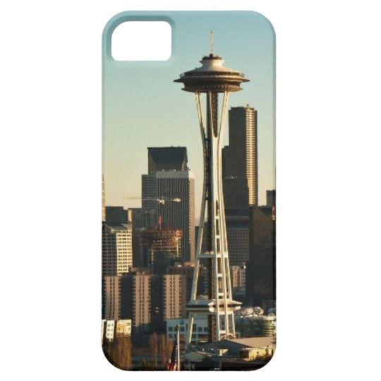 Downtown Seattle skyline and Space Needle iPhone SE/5/5s Case