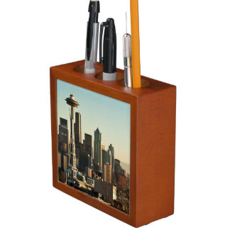 Downtown Seattle skyline and Space Needle Pencil/Pen Holder