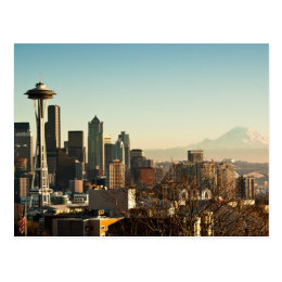 Downtown Seattle skyline and Space Needle Postcard
