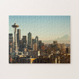 Downtown Seattle skyline and Space Needle Jigsaw Puzzles