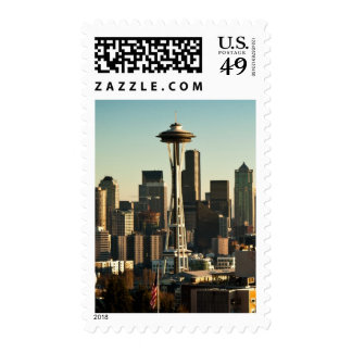 Downtown Seattle skyline and Space Needle Stamp