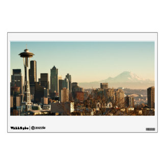 Downtown Seattle skyline and Space Needle Wall Decal