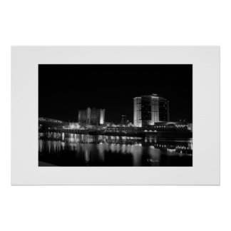 Downtown Shreveport, LA casinos and riverfront Poster