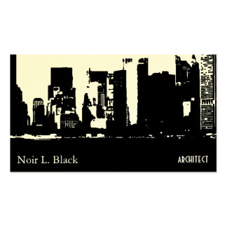 Downtown Silhouette Architect Business Cards