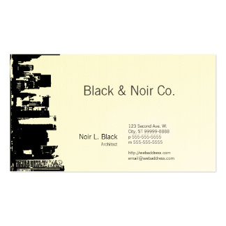 Downtown Silhouette Architect Business Card Templates