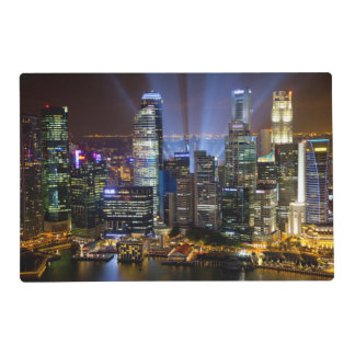 Downtown Singapore city at night Placemat
