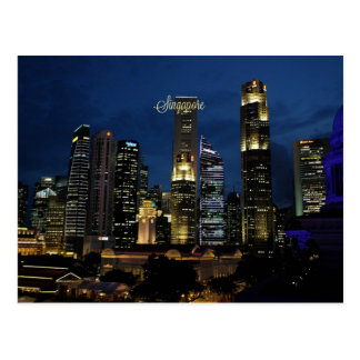 Downtown Singapore Postcard