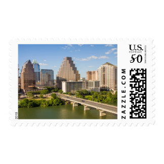 Downtown Skyline on Lady Bird Lake Postage