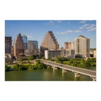 Downtown Skyline on Lady Bird Lake Poster