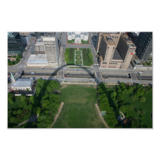 Downtown St. Louis Arch Shadow Poster